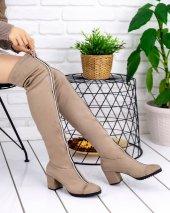 Rafela Vizon Süet Çorap Çizme