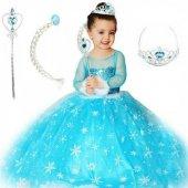 Tarlatanlı Elsa Kostümü, Karlar Ülkesi Anna Kostümü, Kız Çocuk Elbisesi