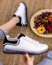 Lumi Beyaz Cilt Siyah Süet Detaylı Spor Ayakkabı-2