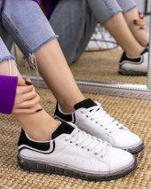 Lumi Beyaz Cilt Siyah Süet Detaylı Spor Ayakkabı-3