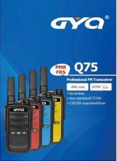 Gyq Q75 Pmr El Telsizi 15 Km Mesafeli Siyah Mavi Sarı Kırmızı Tekli Paket