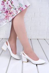 Ayakland 544 1150 Cilt 5 Cm Topuk Bayan Ayakkabı Beyaz