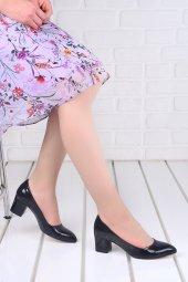 Ayakland 1990 2023 Kırık Rugan 5 Cm Topuk Bayan Ayakkabı Siyah