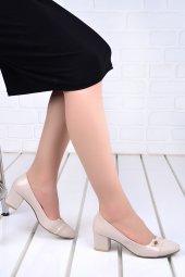 Ayakland 99046 2055 Cilt 5 Cm Topuk Bayan Ayakkabı Ten