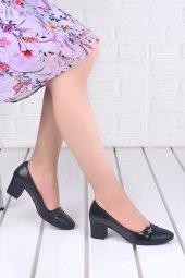 Ayakland 99046 2055 Cilt 5 Cm Topuk Bayan Ayakkabı Siyah