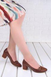 Ayakland 99046 2055 Cilt 5 Cm Topuk Bayan Ayakkabı Taba