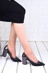 Ayakland 1019 Cilt Şeffaf 7 Cm Topuk Bayan Topuklu Ayakkabı PLATİN