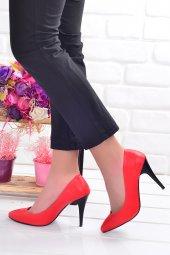 Ayakland 1943 71 Cilt 11 Cm Topuk Bayan Stiletto Ayakkabı Kırmızı