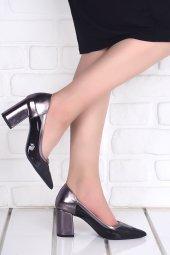 Ayakland 1019 Cilt Şeffaf 7 Cm Topuk Bayan Topuklu Ayakkabı PLATİN-2