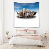 Doğa Vahşi Hayvan Deseni Duvar Örtüsü-2