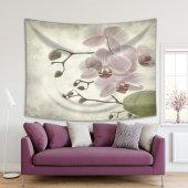 Duvar Kağıdı Pembe Orkide Desenli Duvar Örtüsü...