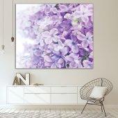 Menekşe Çiçek Desenli Mor Duvar Örtüsü-6
