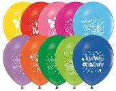 1+1 Renk İyiki Doğdun Baskılı Balon 12 İnç 100 Adet