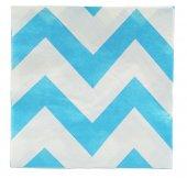 Mavi Çizgili Kağıt Peçete 20 Adet