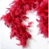 Kırmızı Renk Kalın Otriş Tüy (2 Metre)