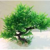 Akvaryum Plastik Bitki Yapay Bitki Bonzai 25x28 cm No2