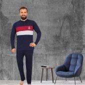 Tampap 845 Çizgili Uzun Kol Erkek Pijama Takımı