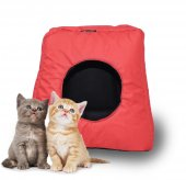 Zeepmax Kedi Köpek Evi Kulübesi Yuvası Yatağı Minder Yastıklı
