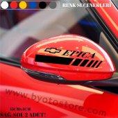 Chevrolet Epica için Ayna Kapağı Sticker (2 Adet)