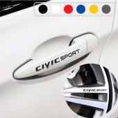 Honda Civic için Kapı Kolu ve Jant Sticker (10 Adet)