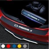 Mazda3 için Karbon Bagaj ve Kapı Eşiği Sticker Seti