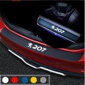 Peugeot 207 için Karbon Bagaj ve Kapı Eşiği Seti