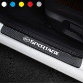 Kia Sportage için Karbon Kapı Eşiği Sticker ( 4 Adet )