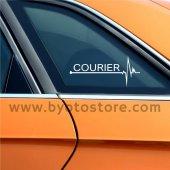 Ford Courier için Kalp Atışı Ritim Oto Sticker (2 Adet)