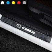 Mazda için Karbon Kapı Eşiği Sticker ( 4 Adet )