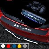 Mitsubishi Outlander için Karbon Bagaj ve Kapı Eşiği Sticker Seti