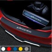 Kia Picanto için Karbon Bagaj ve Kapı Eşiği Sticker Seti