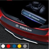 Volkswagen Touran için Karbon Bagaj ve Kapı Eşiği Sticker Seti