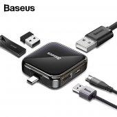Baseus Casper Excalibur Uym Type-C USB Çoğaltıcı Adaptör, 4 USB