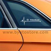 Volkswagen Touran için Kalp Atışı Ritim Oto Sticker (2 Adet)
