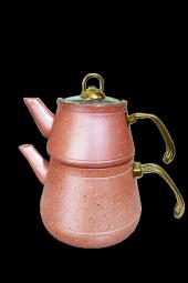 Remetta Granit Aşiret Boy Çaydanlık Gold Kulp...