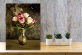 Chic Life Vazodaki Güller Kanvas Tablo 50x70 Cm