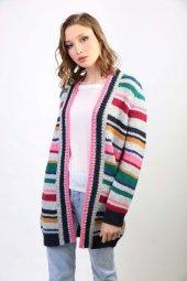 Sweater Concept Uzun Çizligi Kadın Kışlık Hırka...