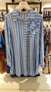 Payet Detaylı Gömlek İndigo