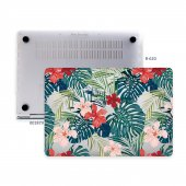 Macbook Pro Kılıf Hard Case A1707 A1990 15 İnç Özel Tasarım Kutulu Flower 01nl