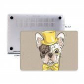 Macbook Pro Kılıf Hard Case A1707 A1990 15 İnç Özel Tasarım Kutulu Dog 02nl