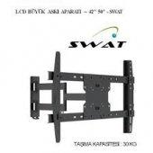 Swat 50 Lcd Plasma Led Tv Çift Kollu Hareketli Duvar Askı Aparatı