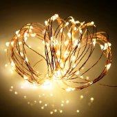 Peri Led Gün Işığı (Sarı) 3 Metre, Pilli...