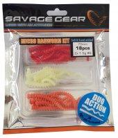 Savage gear Lrf Ragworm Kit 18+2 Adet (UV-Red-Pink-Glow)