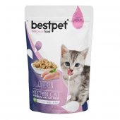 Bestpet Kitten Jelly Pouch Yavru Kedi Maması 85...
