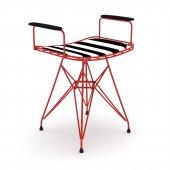 Knsz kafes tel sandalyesi taburesi 1 li mutlu krmtuan kolçaklı ofis cafe bahçe mutfak