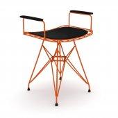 Knsz kafes tel sandalyesi taburesi 1 li mutlu trnsyh kolçaklı ofis cafe bahçe mutfak
