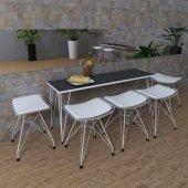 Knsz kafes tel bar sandalyesi 1 li zengin morbonar kolçaklı sırt minderli ofis cafe bahçe mutfak
