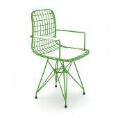 Knsz kafes tel sandalyesi 1 li mazlum yşlbyz kolçaklı ofis cafe bahçe mutfak