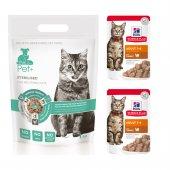 thePet+  Tahılsız Kısır Kedi Maması 1 kg - 2x Hills Hindili Pouch Hediyeli