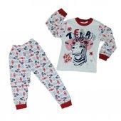 Erkek Çocuk Zebra Modelli Pijama Takımı